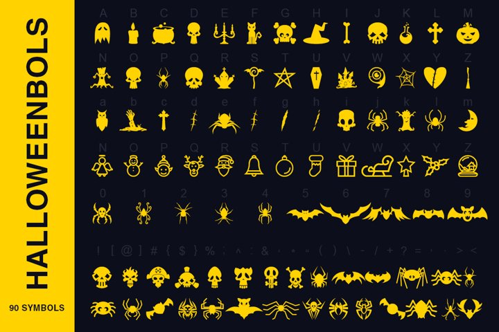 Symbols Font Collection - 450 Elements - Free Font of The Week Design1