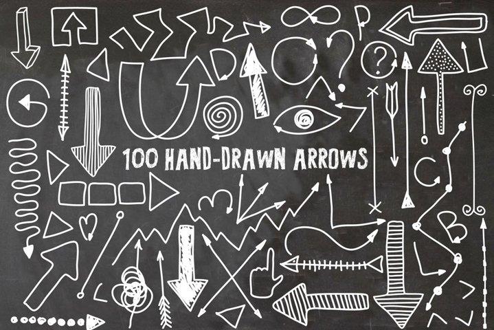 100 Hand Drawn Arrows example
