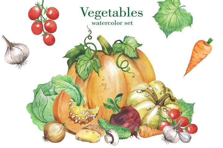 Vegetables watercolor clipart. Veggie Food, Vegetable Print