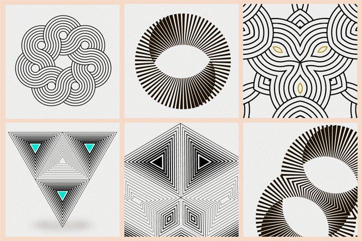 Illusion linear geometric shapes example 4