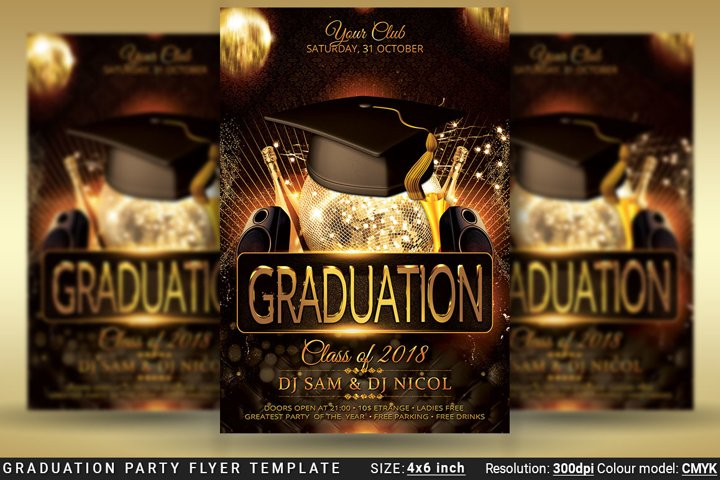Graduation Party Flyer Template Prom