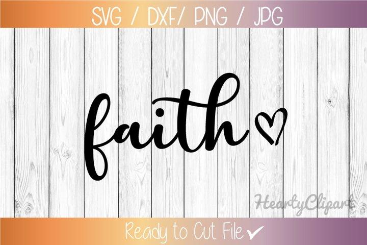 Faith svg heart, cut file