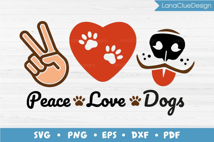 Peace Love Dogs SVG PNG DXF EPS PDF