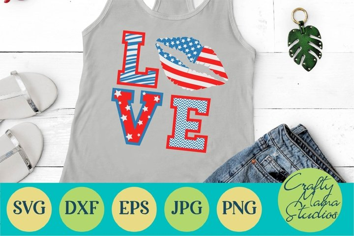 USA Lips Svg, American Flag Svg, 4th of July Lips Svg, Love