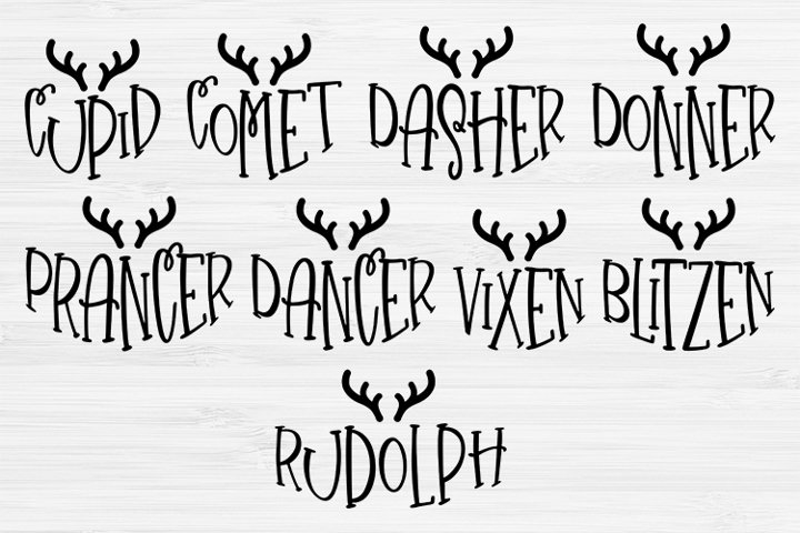 Reindeer ornament bundle , Christmas bundle svg,Cricut File