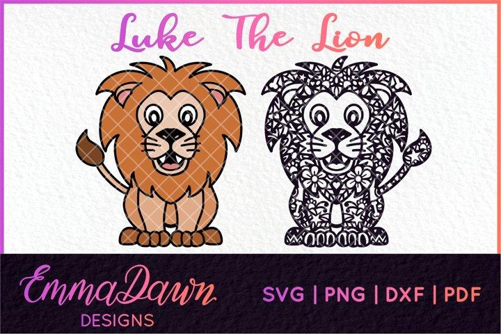 LUKE THE LION SVG MANDALA ZENTANGLE DESIGNS