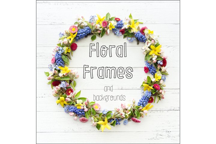 Floral Frames and Backgrounds