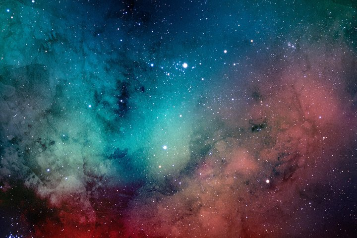 Space Watercolor Backgrounds - Free Design of The Week Design7