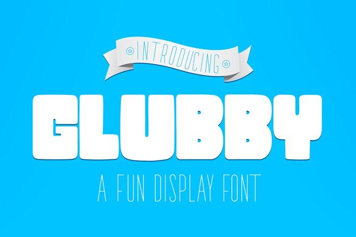 Glubby Font - Fun Display Font