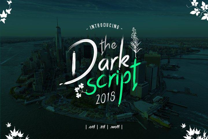 Dark Script Font