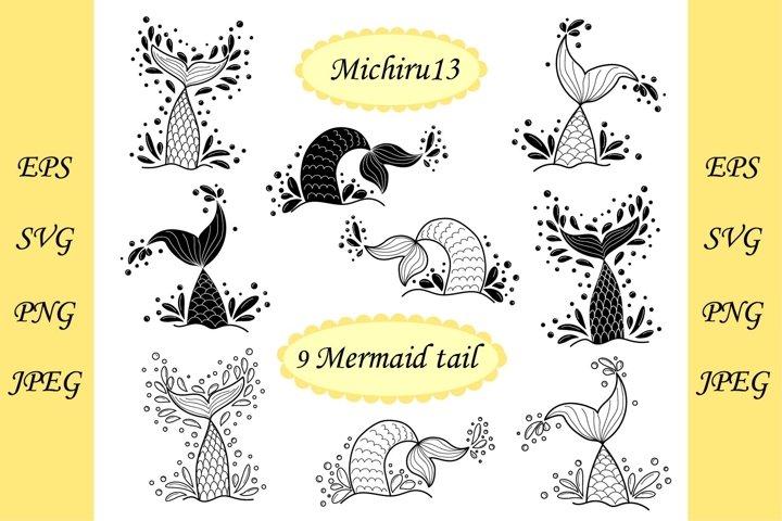 9 variants mermaid tail