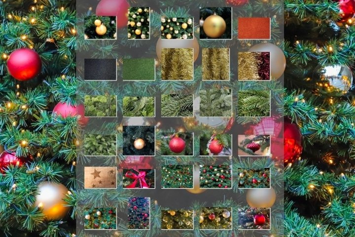 Christmas collection of 30 backgrounds and images
