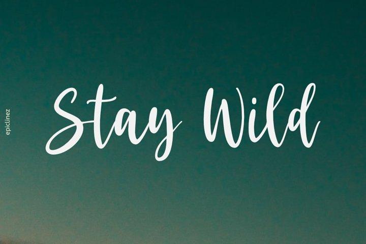 Stay Wild | Stunning Script Font