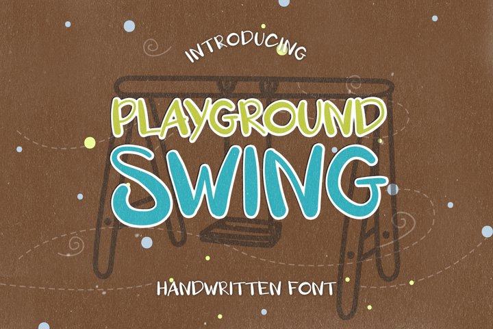 Playground Swing - A Playful Handwritten Font
