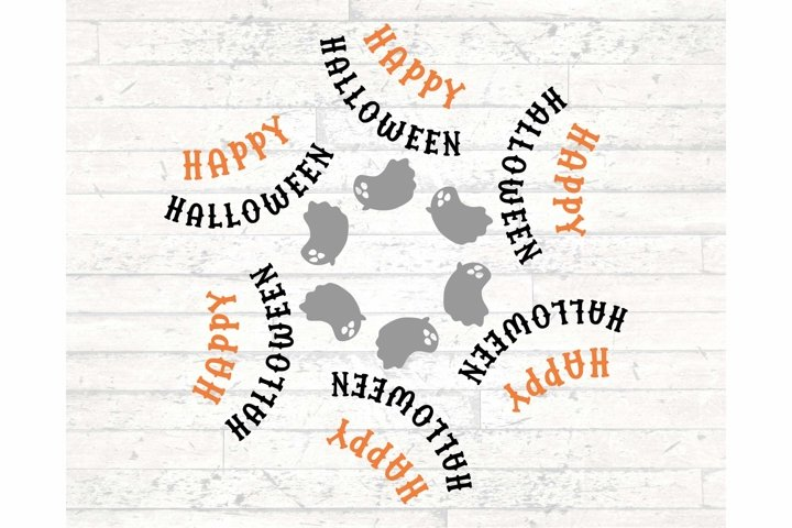 Happy Halloween with Ghost SVG