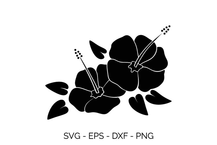 hibiscus flowers svg