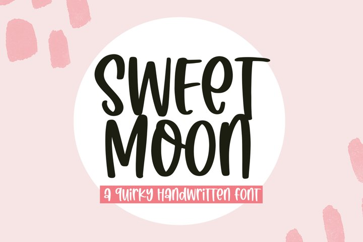 Sweet Moon - A Quirky Handwritten Font