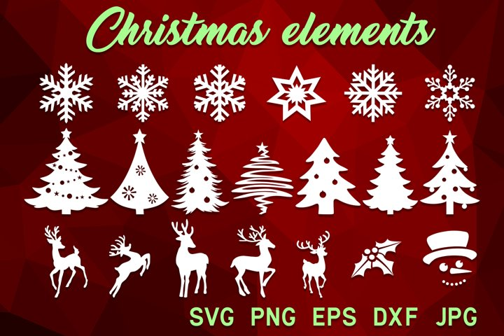 Christmas svg bundle Christmas tree Snowflake Reindeer