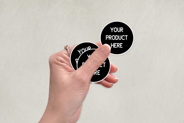 Download Free Mockups Download Hand Mockup For Stickers Buttons Tags Label Mock Up Free Design Resources