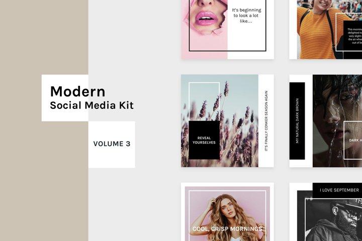 Modern Social Media Kit Vol. 3