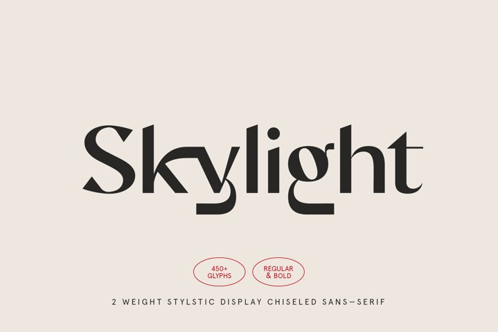 Skylight - Display Sans-Serif Font