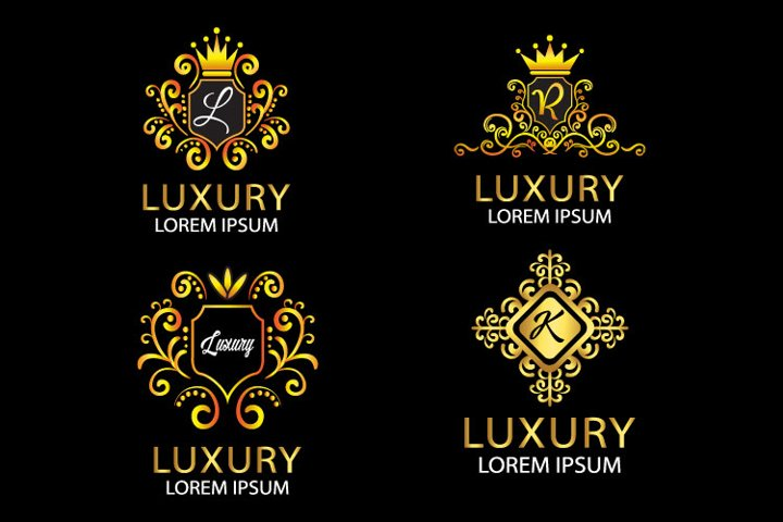 luxury bundle logo design template - vector