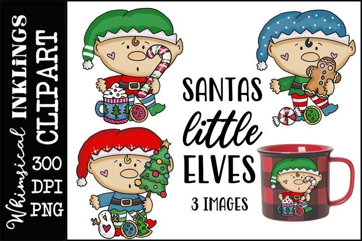 Santas Little Elves Sublimation Clipart