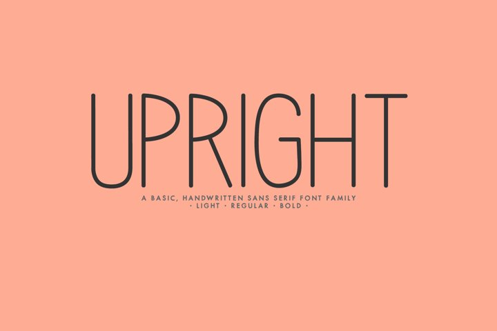 Upright - A Handwritten Sans Serif
