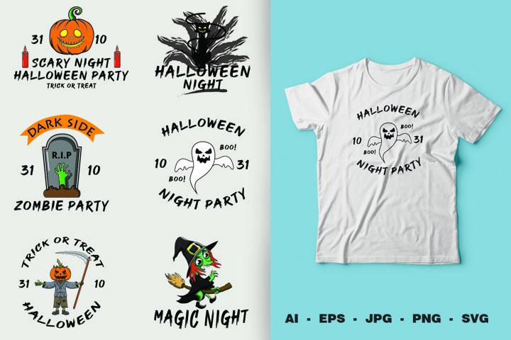 Bundle Halloween SVG, Pumkins, Black cat, Ghost, Witch, etc.