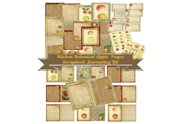 Kitchen Apples Journal Scrapbook Kit PDF
