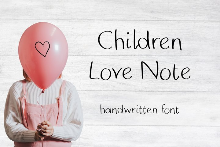 Children Love Note Handwritten Font