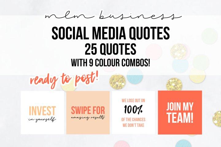25 x Peach Orange MLM Social Media Quotes