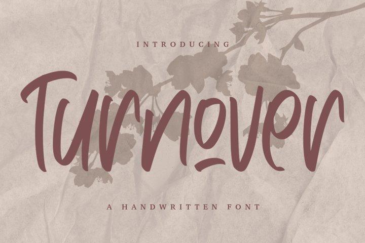 Turnover - Handwritten Font