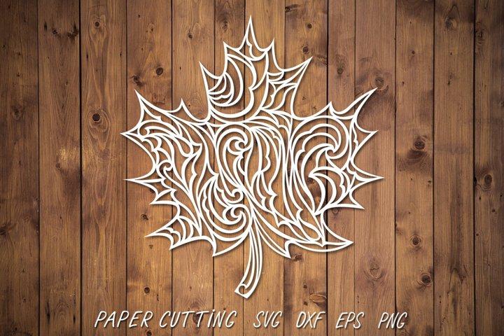 Maple leaf SVG,DXF,PNG,Paper cutting,leaf cut file,clipart