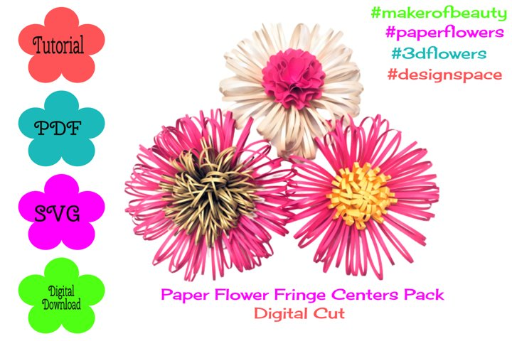 Paper Flower Fringe Centers Pack | Digital Cut |