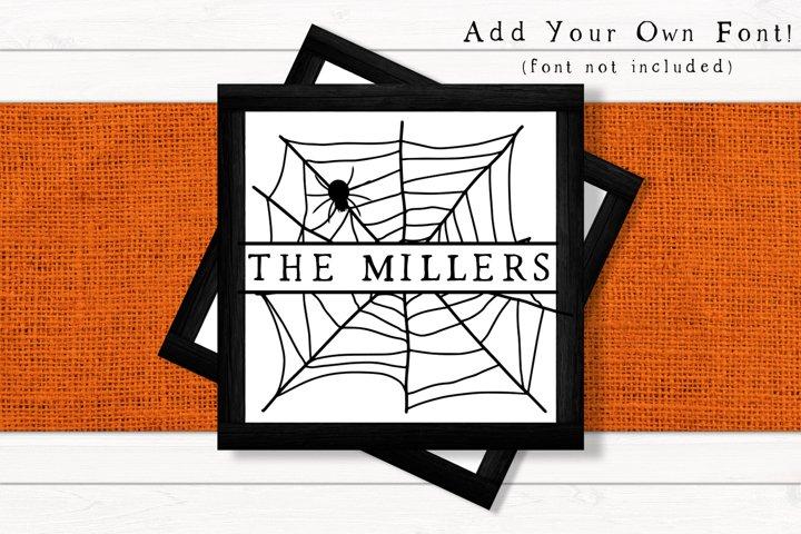 Spider Web Monogram SVG