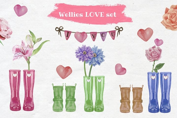 Wellies Love Family Clipart