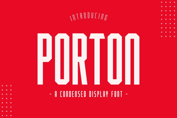 Porton Condensed Display
