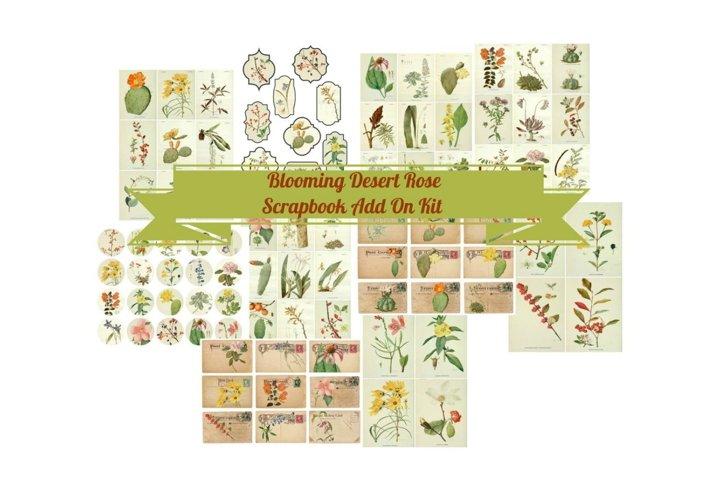 Blooming Desert Rose Botanical Journal Scrapbook Kit