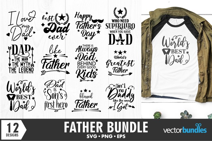 Dad fathers day bundle of 12 quotes SVG