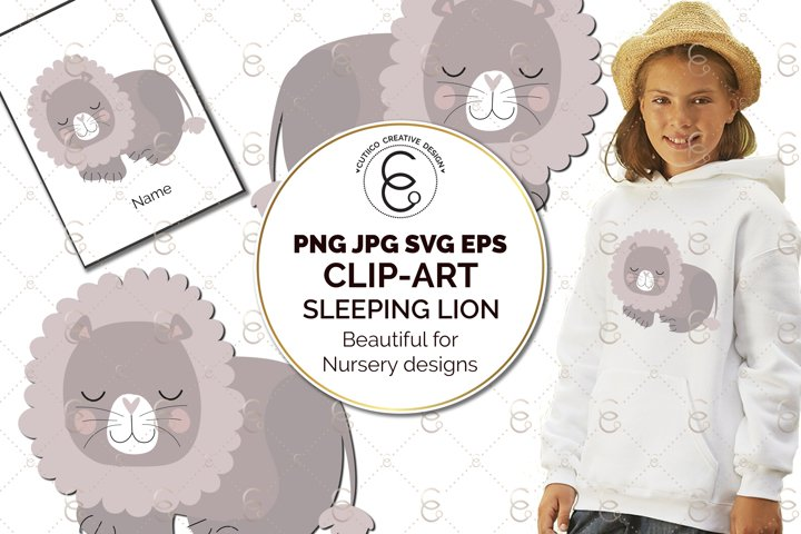 Lion Nursery Scandi Clip Art SVG PNG JPG EPS