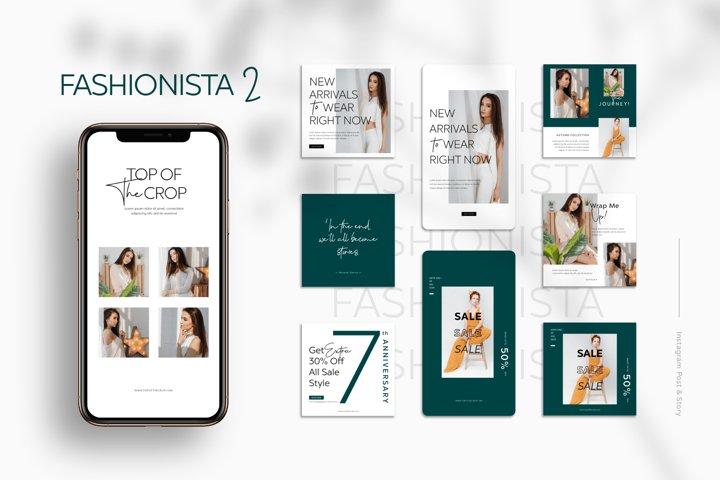 Fashionista II Instagram Templates