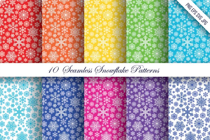 Snowflake Patterns   PNG EPS JPG SVG   Snow Backgrounds