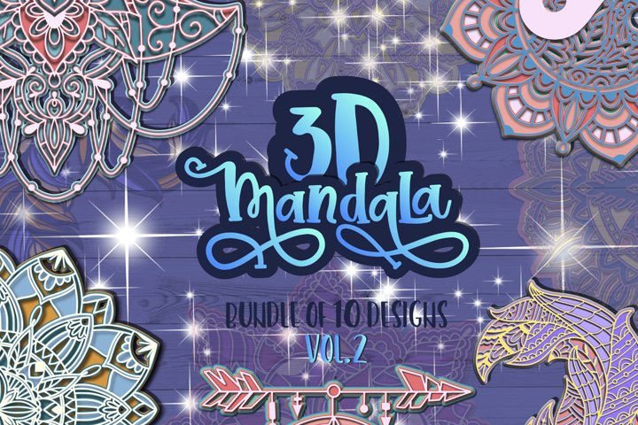 3D Mandala svg bundle Papercut SVG Zentangle vol.2
