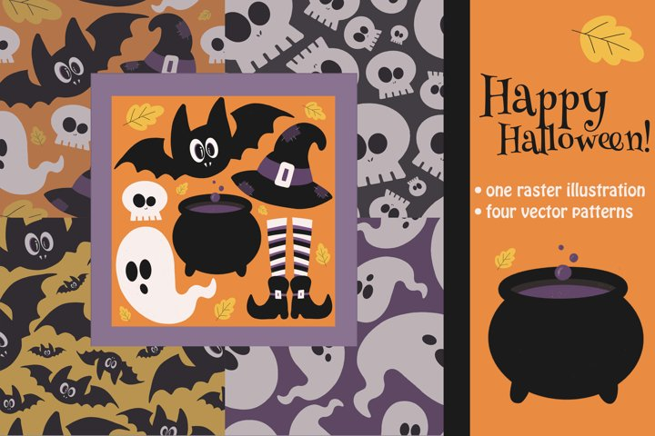 Happy Halloween / Halloween patterns and illustration