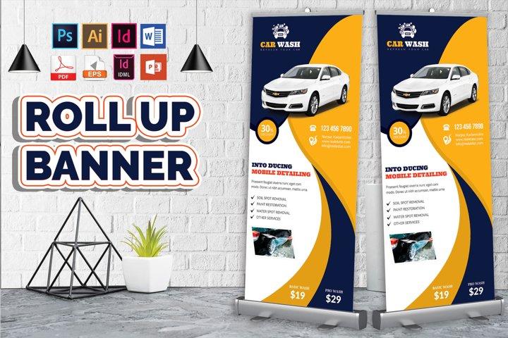 Car Wash Rollup Banner Vol-07