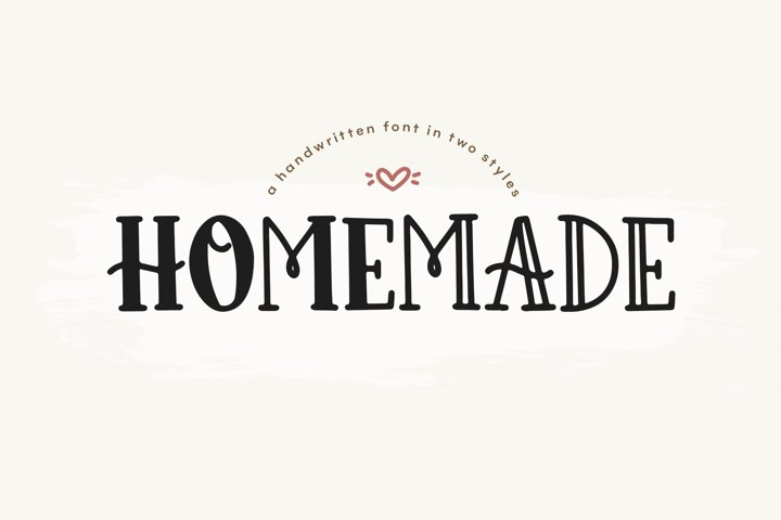 Homemade - A Cute and Chunky Handwritten Font