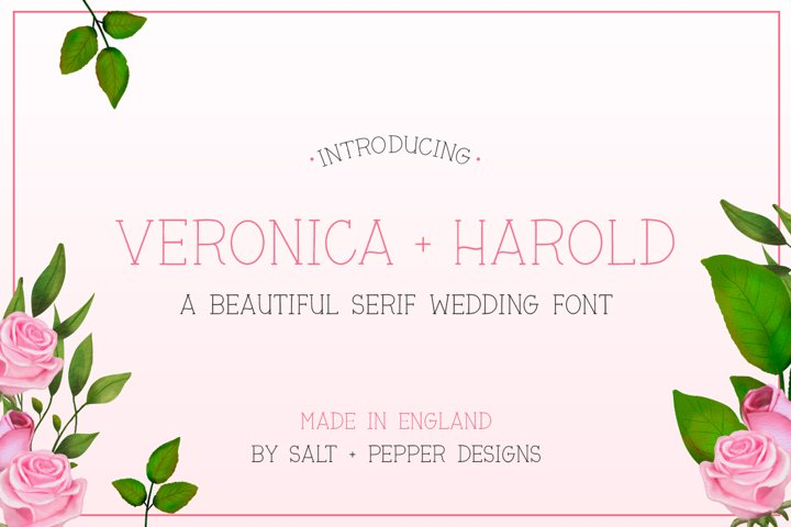 Veronica and Harold Font - Wedding Fonts