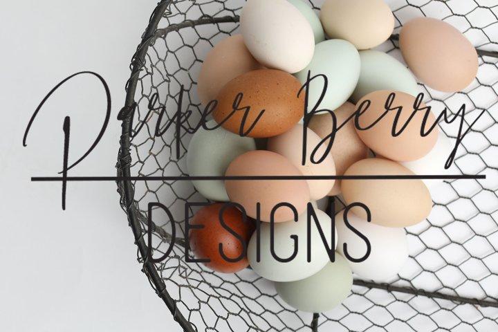 A dozen plus fresh eggs in a wire basket