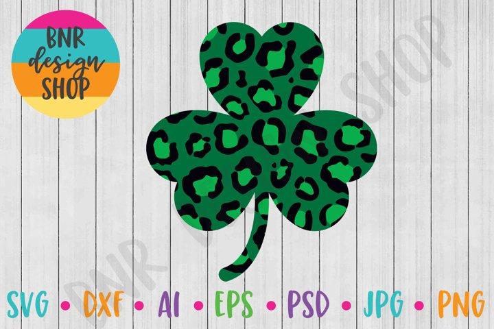 Leopard Shamrock SVG, St. Patricks Day SVG, SVG File